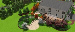 3-D garden view 1 - overhead