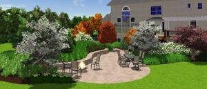3-D garden view 2 - side