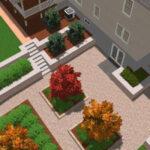 Contemporary terraced edible garden