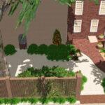 Urban courtyard garden