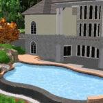 Vanishing edge pool on steep slope