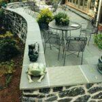 Limestone terrace walls