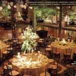 Special event and wedding rentals of mature trees in container (Shown here at Hershey Lodge)
