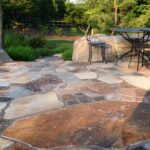 Japanese method nobedan patio, rustic sandstone, Manheim