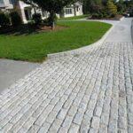 Granite hammered pavers and Belgium block pavers