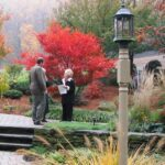 Rustic stone terrace walls create easy access  planting beds, Morgantown