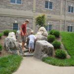 Preschool natural play court