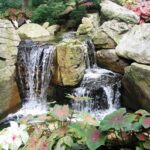 Cascade enlivens private garden