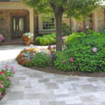 Travertine garden paths