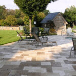 Travertine natural stone pavers dry-laid, Elizabethtown