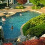 Custom lagoon-type pool