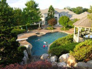 Swimming pool garden oasis 3