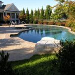 Jumping rock is safe fun for smaller pool