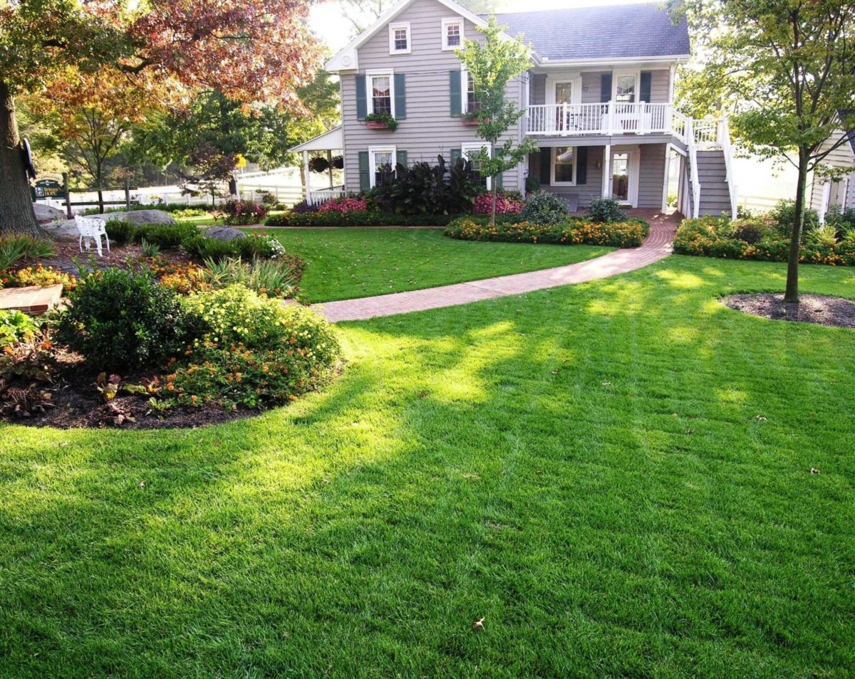 Brittany's Hope - lawn and landscape restoration around historic farmhouse, Elizabethtown, PA