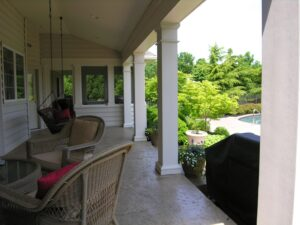 Covered patio shades eyes and skin from the sun, and encourages healthy outdoor living, Lancaster, PA