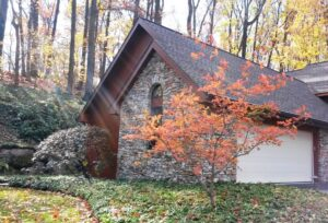 Fall brightens home in woodland garden, Lancaster, PA
