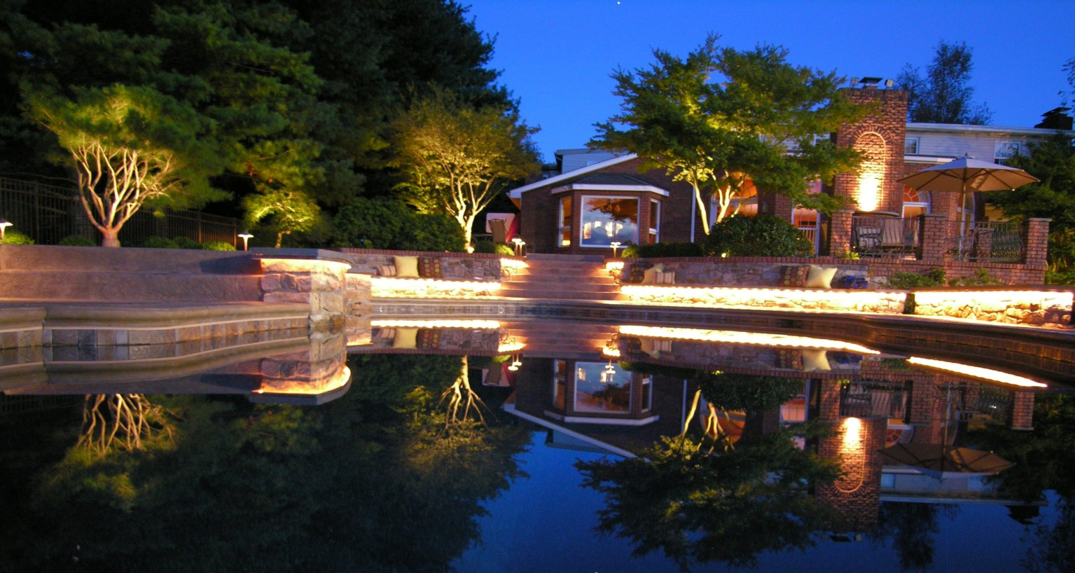 Experience a new garden view in the evening with landscape lighting, Lancaster, PA
