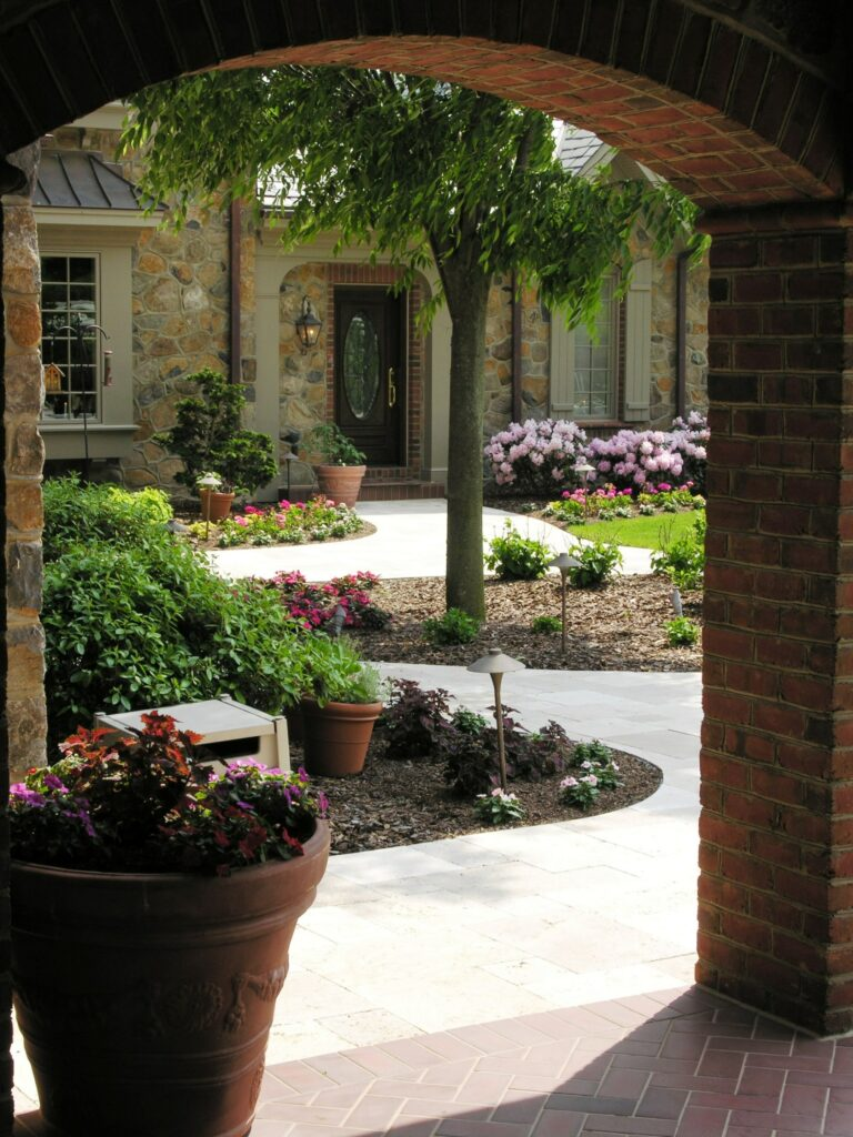 """Old world"" style courtyard, Elizabethtown, PA"