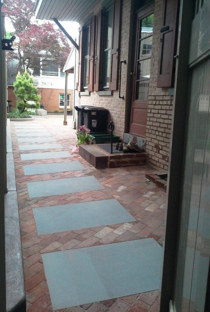 Historic city courtyard renovation, Lancaster, PA
