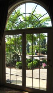 The garden steps into the living room through French doors, Lancaster, PA