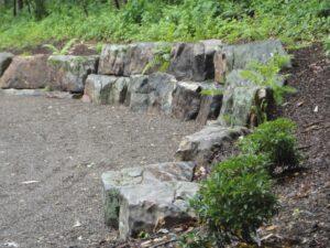 Rugged boulder wall for natural feel, York, PA