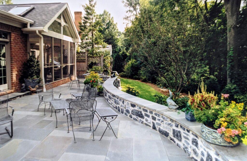 Ashlar pattern, natural Bluestone patio terrace, Harrisburg, PA