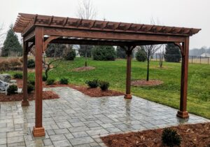 We also prepare patios and footings to partner with clients who install locally-built pergolas, Harrisburg, PA