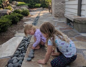 Sometimes children make any garden their own, Manheim, PA