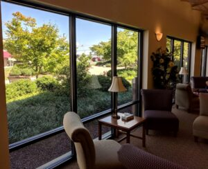 Enliven a waiting room with an inside-out garden view, Manheim, PA