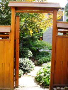 City courtyard garden oasis for rowhome, Lancaster, PA