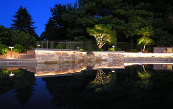 Still nights reflect garden like a mirror, Lancaster, PA