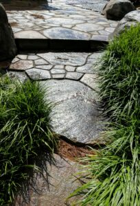 Nobedan stone paving suggests a tapestry of stone, Manheim, PA