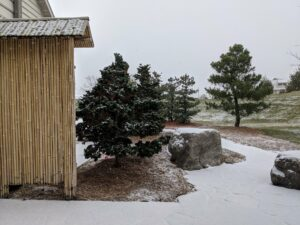 Sodegaki Japanese sleeve fence provides simple, elegant screening, Manheim, PA