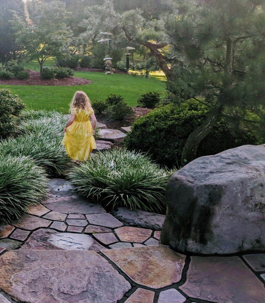 Stone paths add interest and textural fun to garden exploration, Manheim, PA