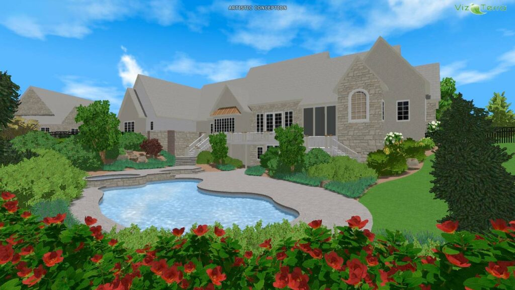 3-D visualization of proposed garden, Leola, PA